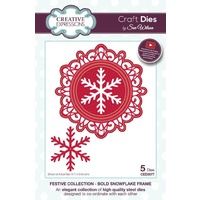 Sue Wilson Dies Festive Collection Bold Snowflake Frame CED3077