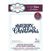 Sue Wilson Dies Festive Collection Starry Merry Christmas CED3086