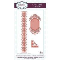 Sue Wilson Dies Scandinavian Collection Corner, Border and Tags CED4202