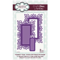 Sue Wilson Dies Frame & Tag Collection Dainty Rectangular Frame CED4301