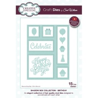 Sue Wilson Dies Shadow Boxes Collection Birthday CED9301