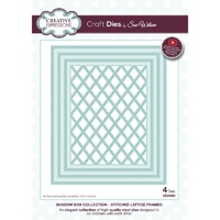 Sue Wilson Dies Shadow Box Collection Stitched Lattice Frame CED9303