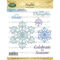 Justrite Stamp Snowflakes FREE SHIPPING
