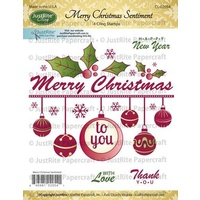 Justrite Stamp Merry Christmas Sentiment