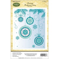 Justrite Stamp Ornament Background Stamp 4 1/2 x 5 3/4