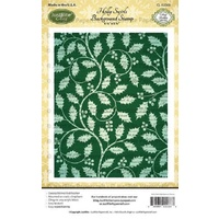 Justrite Stamp Holly Swirls Background