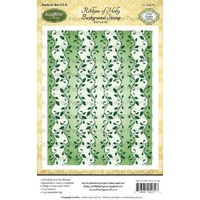 Justrite Stamp Ribbons of Holly Background