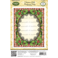 Justrite Stamp Christmas Holly Background