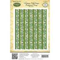 Justrite Stamp Christmas Holly Stripe Background