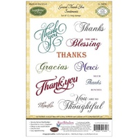 Justrite Stamp Grand Thank You Sentiments