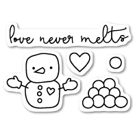 Poppystamps Stamps Love Never Melts clear stamp set CL418