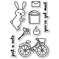 Poppystamps Stamps Mail Delivery clear stamp set CL421