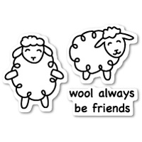 Poppystamps Stamps Wool Be Friends clear stamp set CL423
