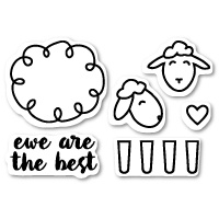 Poppystamps Stamps Ewe Are the Best clear stamp set CL424