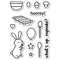 Poppystamps Stamps Cupcake Party clear stamp set CL425