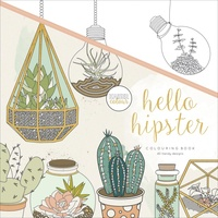 KaiserColour Colouring Book 25cm x 25cm Hello Hipster