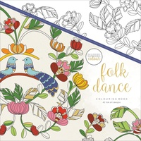 KaiserColour Colouring Book 25cm x 25cm Folk Dance