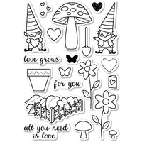 Memory Box Stamp Love Grows clear stamp set CL5167