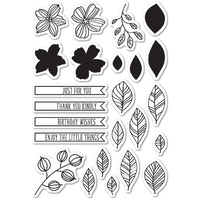 Memory Box Stamp Garden Sketches clear stamp set CL5204
