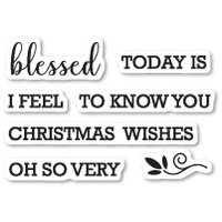 Memory Box Stamp Blessed to Know You clear stamp set CL5213