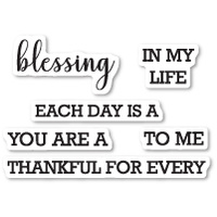 Memory Box Stamp Each Day is a Blessing clear stamp set CL5214