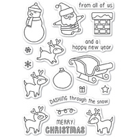 Memory Box Stamp Dashing with Reindeer clear stamp set CL5215