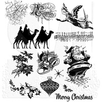 Tim Holtz Cling Stamps Mini Holidays 4 CMS142