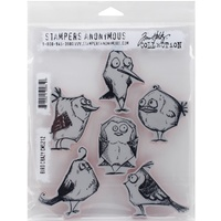 Sizzix Tim Holtz Stamp Set 6PK Bird Crazy CMS212