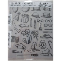 Sizzix Tim Holtz Stamp Set 33PK Crazy Things CMS237