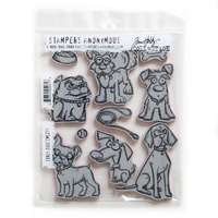Sizzix Tim Holtz Stamp Set 10PK Crazy Dogs CMS271