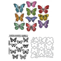 Sizzix Tim Holtz Flutter Stamps and Die Set CMS294 662269