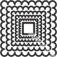 Couture Creations Nesting Dies Scallop Square