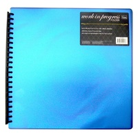 Couture Creations 12 x 12 Work-In-Progress Scrapbooking Binder Blue