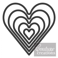 Couture Creations Nesting Dies Hearts