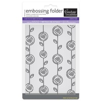 Couture Creations Embossing Folder 5x7 Fresh & Fun Fudge CO723275