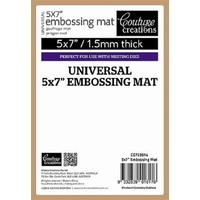 Couture Creations Universal 5x7 Rubber Tan Polymer Embossing Pad Mat