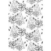 Couture Creations Embossing Folder 5x7 Wrapped in Joy Poinsettia Lullaby