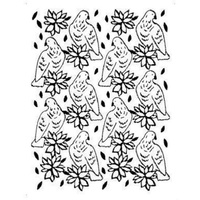 Couture Creations Embossing Folder A2 4.25 x 5.5 Wrapped in Joy A Songbird's Poinsettia