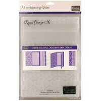 Couture Creations Embossing Folder A4 Bigger is Better Royal George