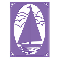 Couture Creations Embossing Folder 5x7 Harmony Collection Sail Away