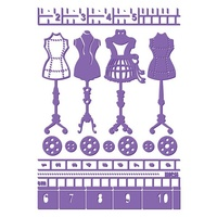 Couture Creations Embossing Folder 5 x 7 Who What Wear Haute Couture