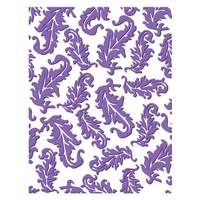 Couture Creations Embossing Folder A2 4.25 x 5.5 Who What Wear Tickle Me Feathers
