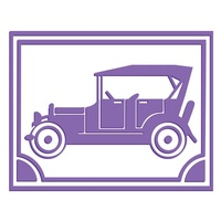 Couture Creations Embossing Folder A2 Driving Miss Daisy Vintage Car FREE SHIPPING