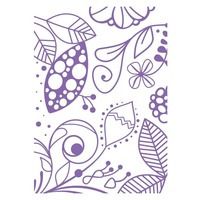 Couture Creations Embossing Folder A2 4.25 x 5.5 The Marriot Collection Fubu