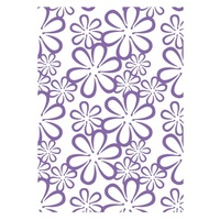 Couture Creations Embossing Folder A2 Ambassador Collection Retro Flowers FREE SHIPPING