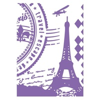 Couture Creations Embossing Folder A2 Ambassador Collection Paris