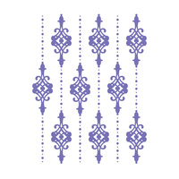 Couture Creations A2 Embossing Folder Lilliputana Curtain