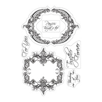 Couture Creations Stamp Set Heart Ease Frames & Sentiments FREE SHIPPING