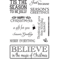 Couture Creations 4x6 Stamp Set Christmas Emporium Happy Christmas FREE SHIPPING