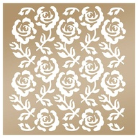Couture Creations Anna Griffin Stencil 8x8 Rose Trellis